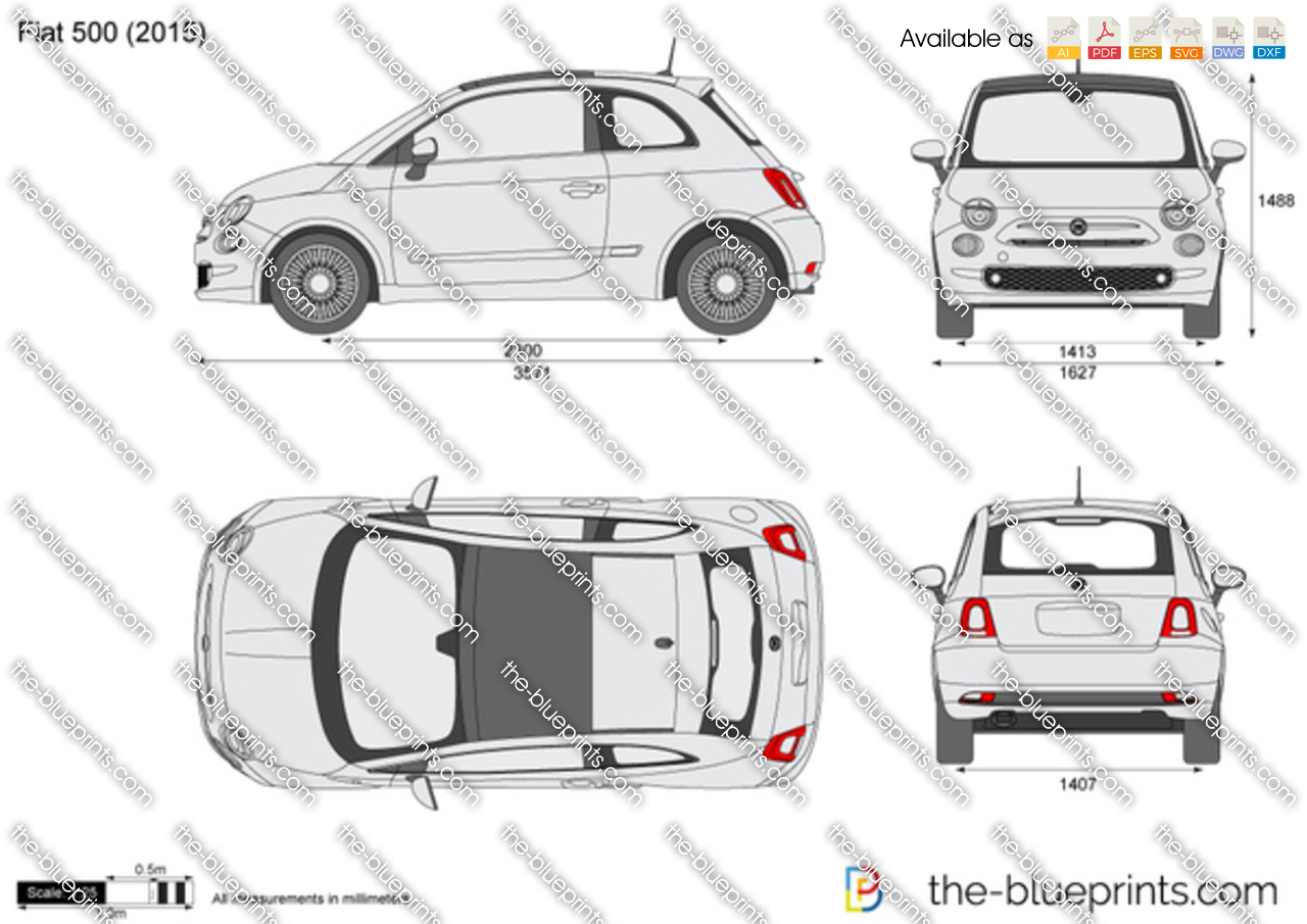 F Type Price >> Fiat 500 vector drawing