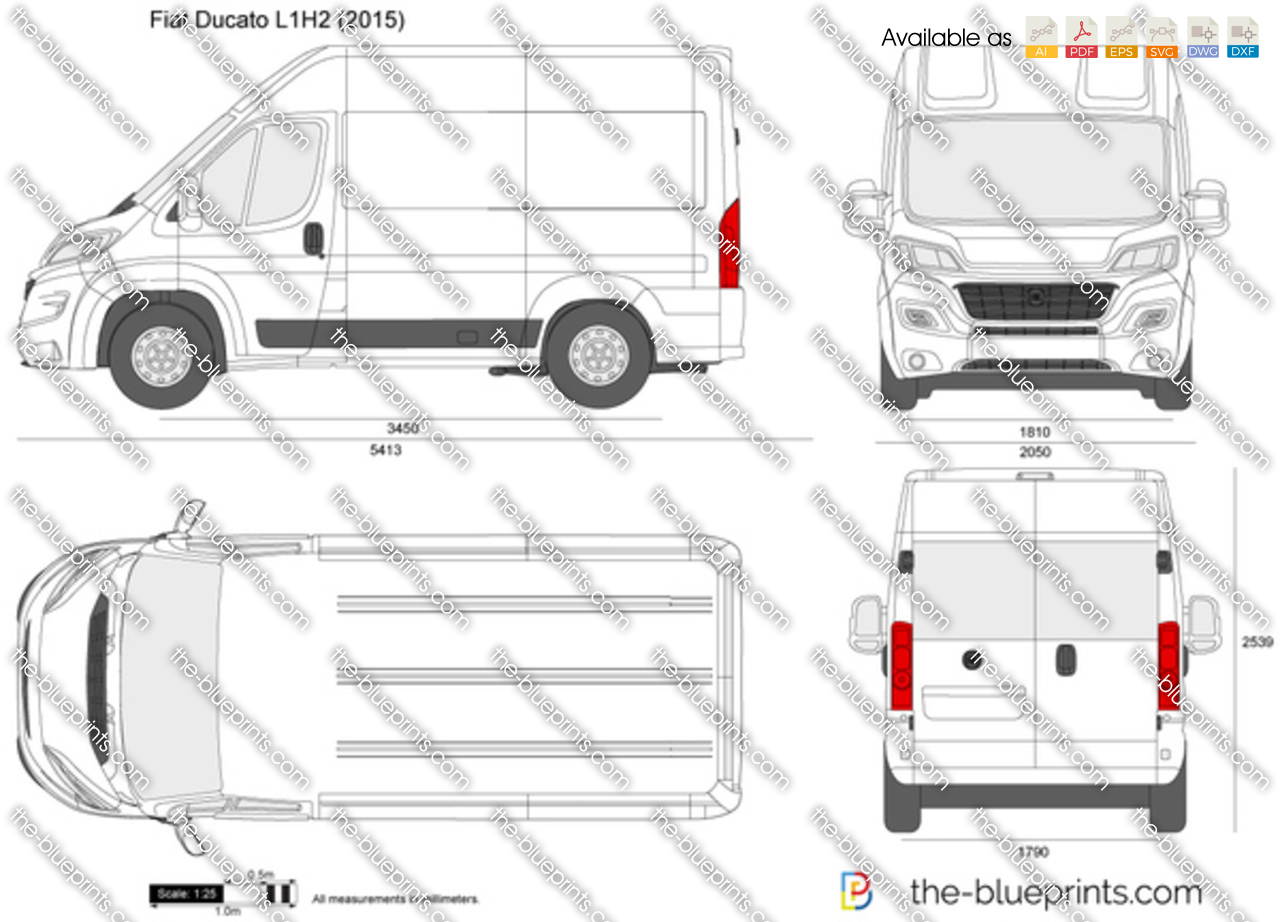 the vector drawing fiat ducato l1h2. Black Bedroom Furniture Sets. Home Design Ideas