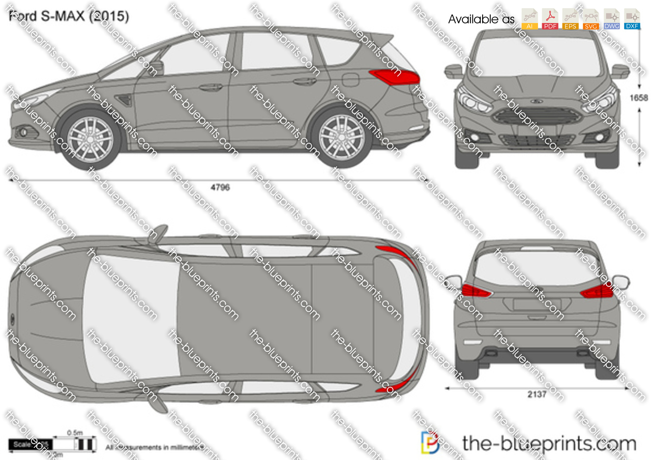 ford s max vector drawing. Black Bedroom Furniture Sets. Home Design Ideas