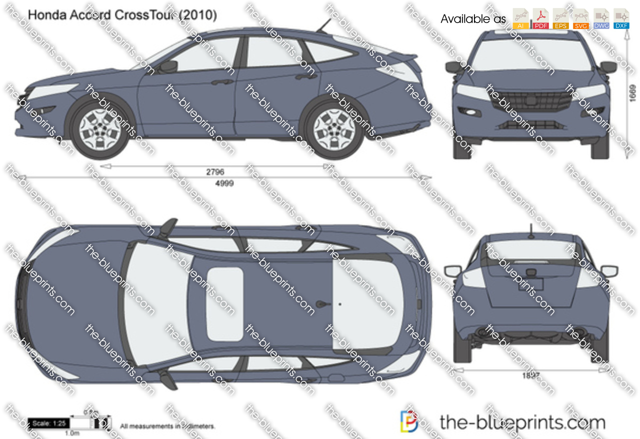 The Blueprints Com Vector Drawing Honda Accord Crosstour