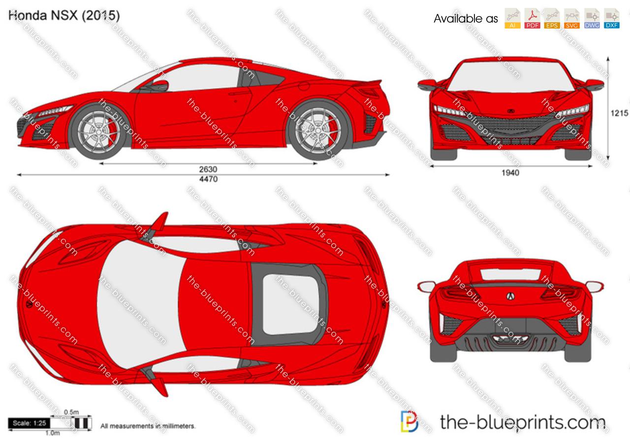 The Blueprints Com Vector Drawing Honda Nsx