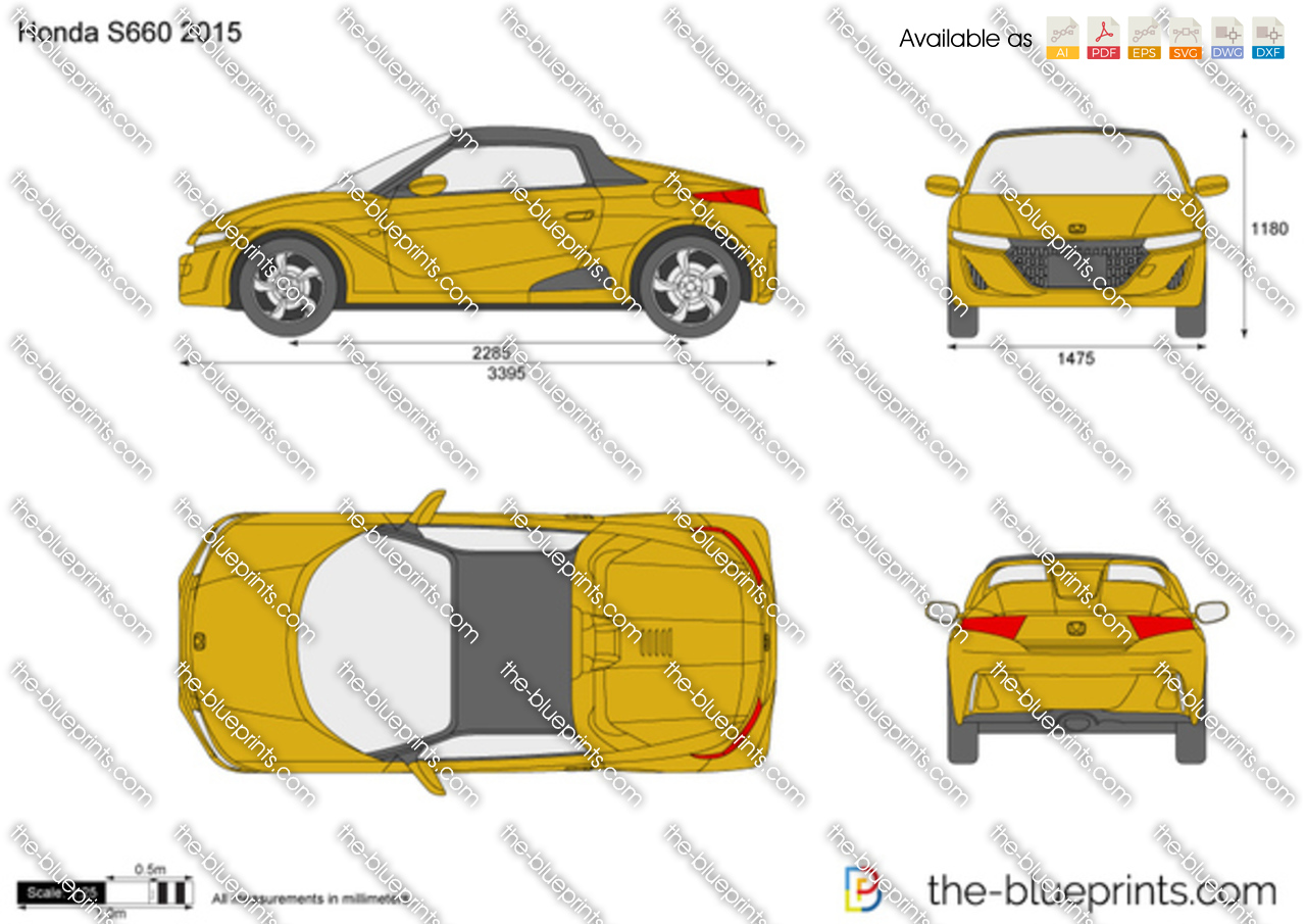 Honda S660 Vector Drawing
