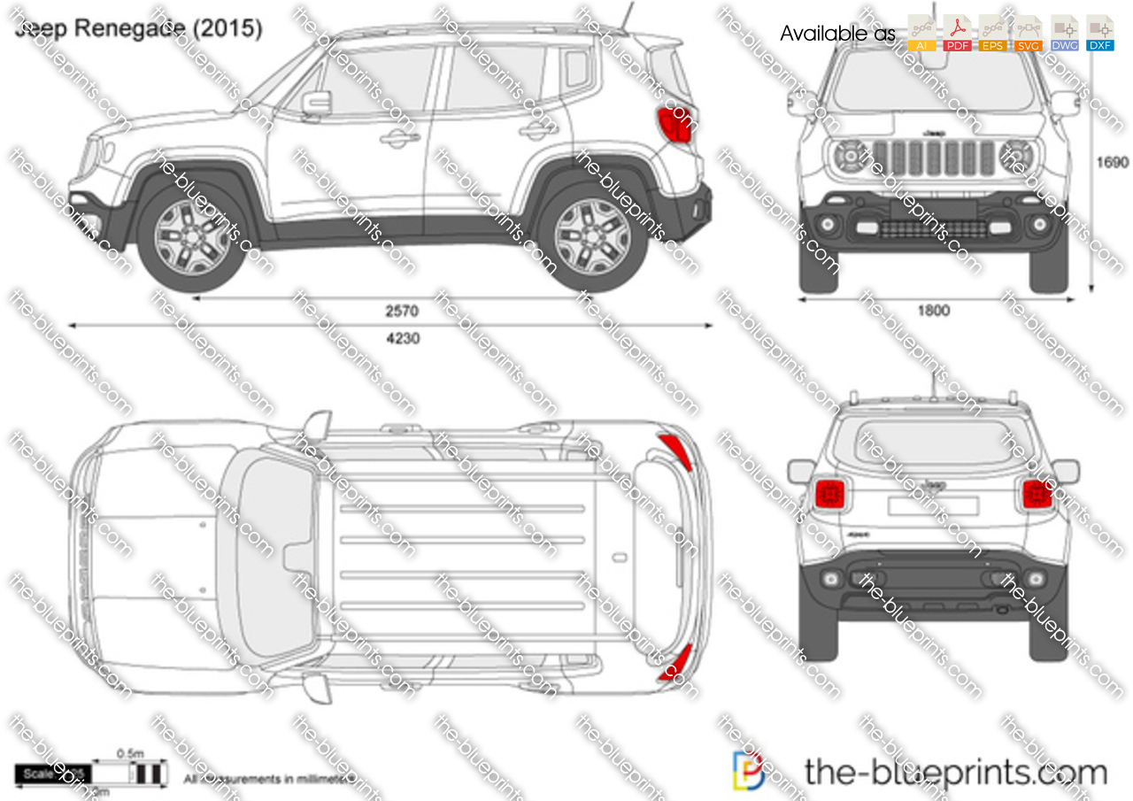 jeep renegade vector drawing