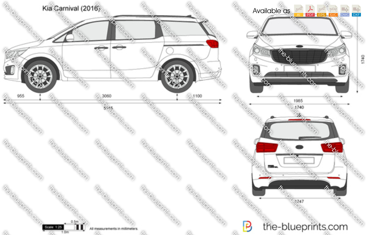 kia carnival vector drawing