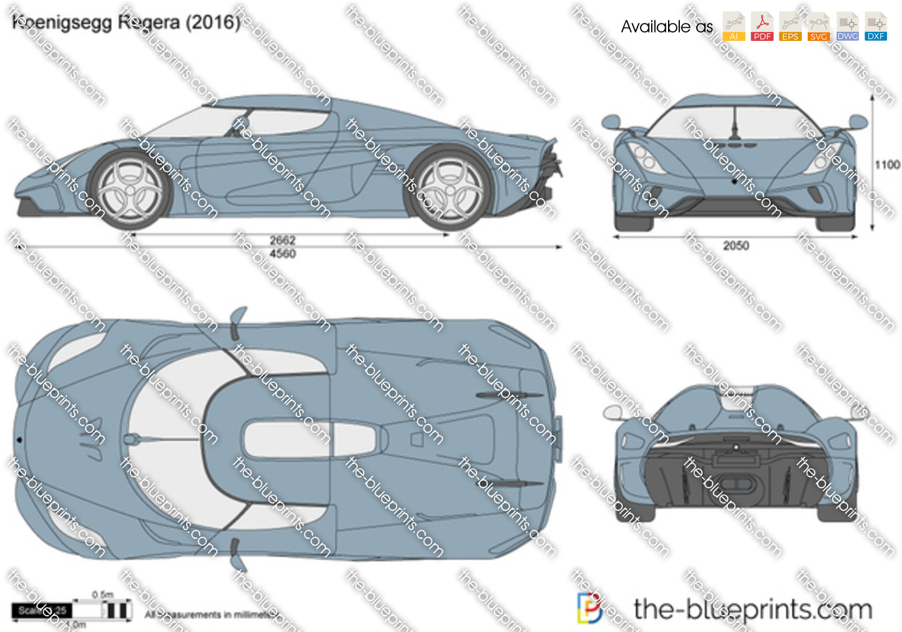 Koenigsegg Regera Vector Drawing