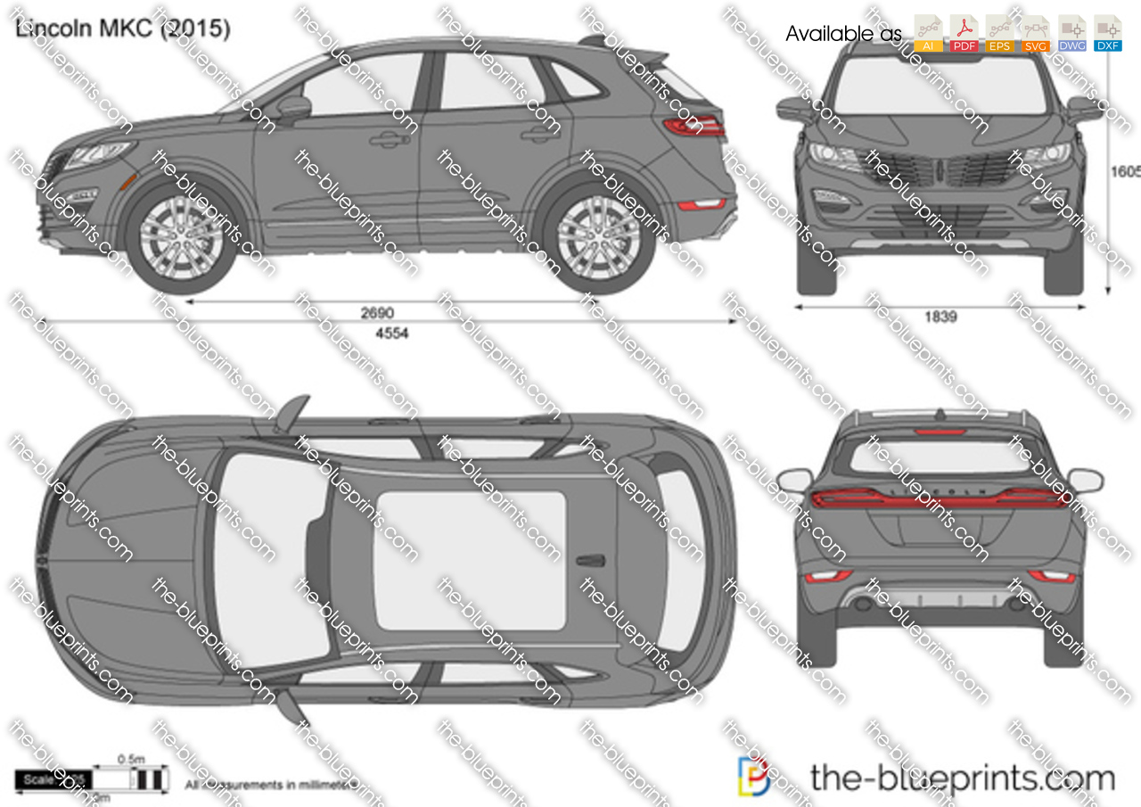 Lincoln Mkc Vector Drawing