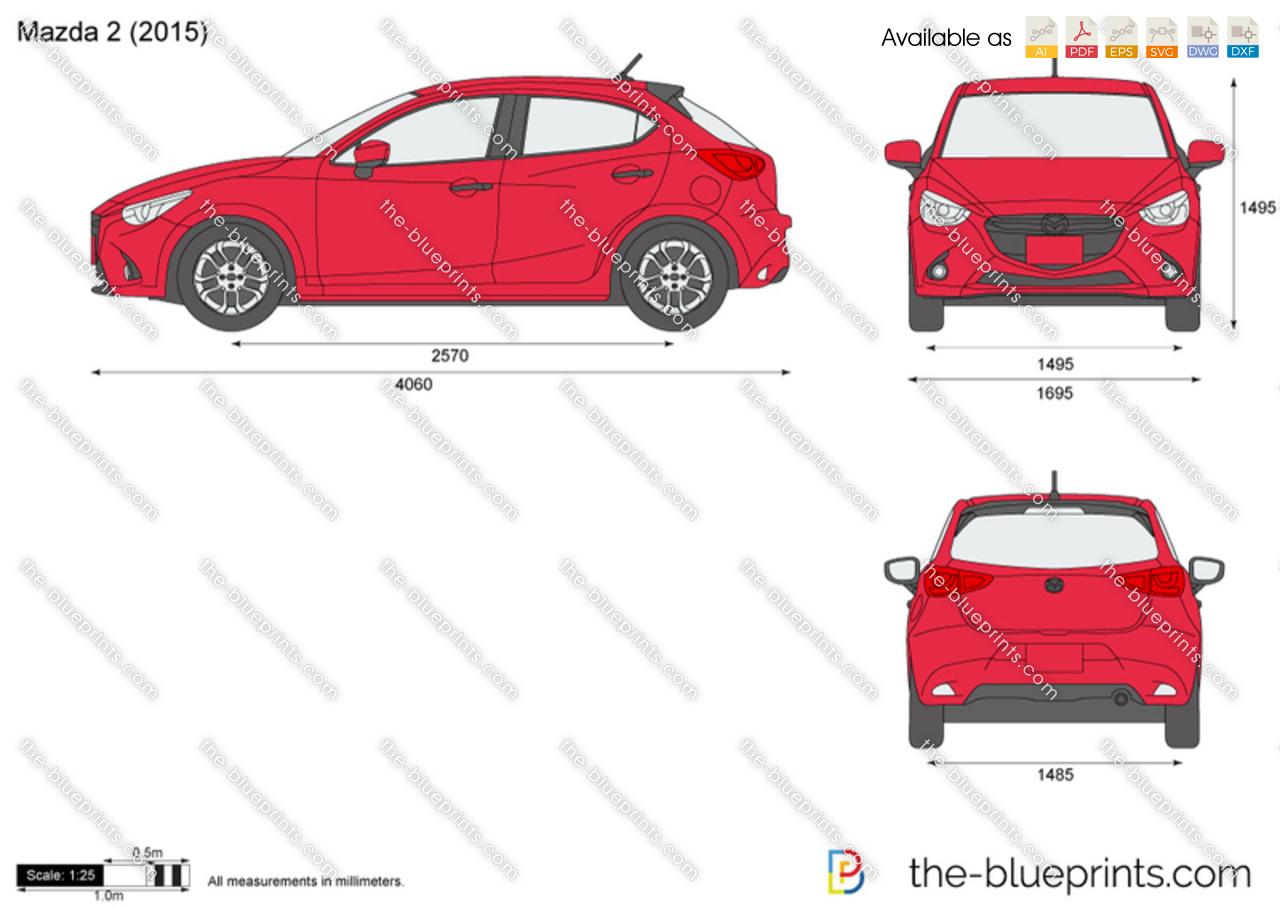 Mazda 2 vector drawing mazda 2 malvernweather Gallery