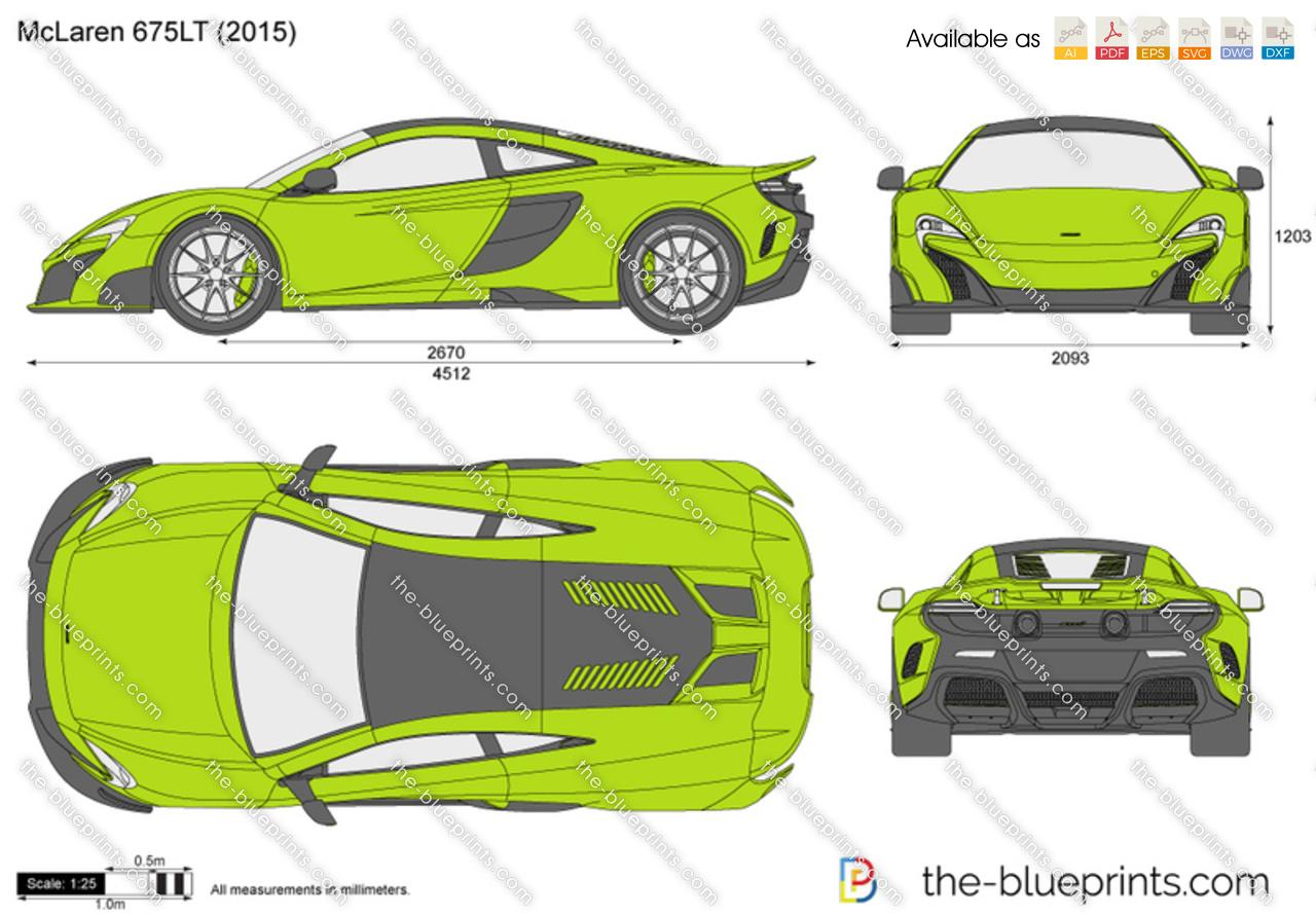 The Blueprints Com Vector Drawing Mclaren 675lt