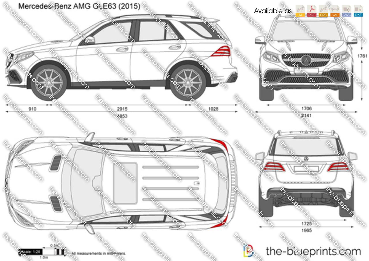 Mercedes Benz Amg Gle63 Vector Drawing