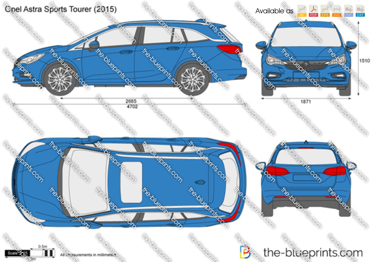 The Blueprints Com Vector Drawing Opel Astra Sports Tourer