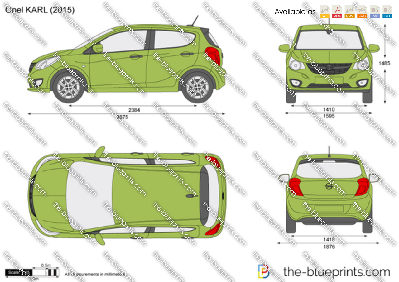 Opel Karl Vector Drawing