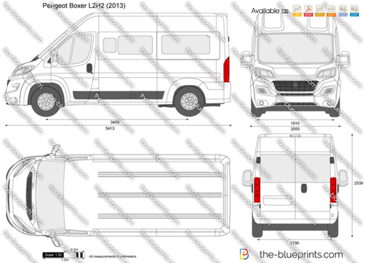 the vector drawing peugeot boxer l2h2. Black Bedroom Furniture Sets. Home Design Ideas