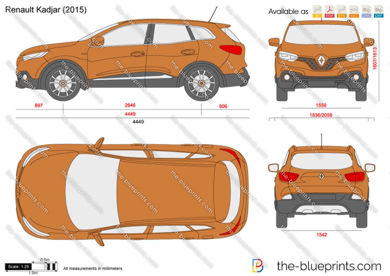 The-Blueprints.com - Vector Drawing - Renault Kadjar