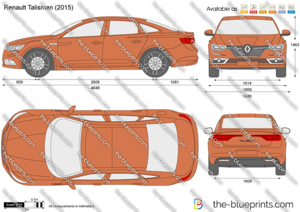 Renault Talisman Vector Drawing