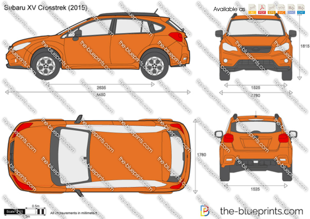 The Blueprints Com Vector Drawing Subaru Xv Crosstek