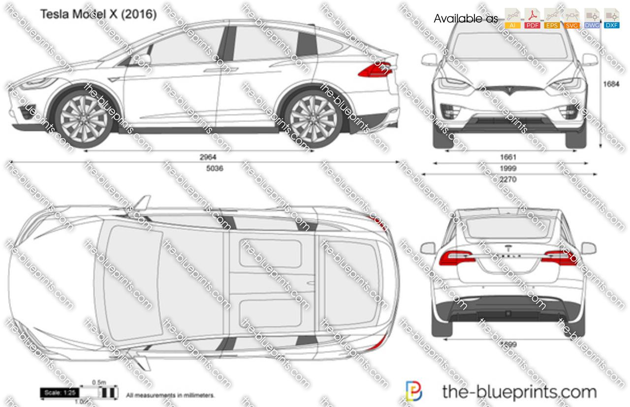 Tesla model x vector drawing tesla model x malvernweather Choice Image