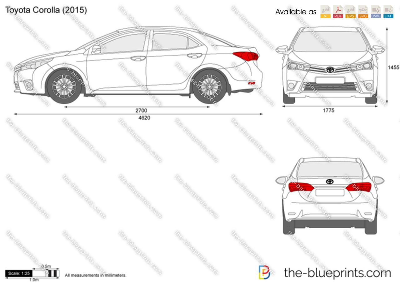 Toyota Corolla Size >> Toyota Corolla Vector Drawing