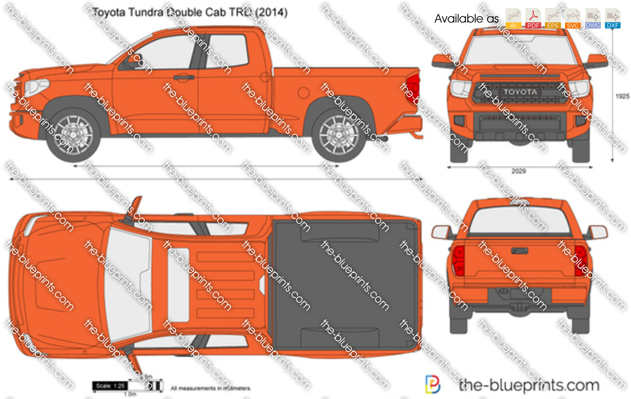 Toyota Tundra Double Cab TRD vector drawing
