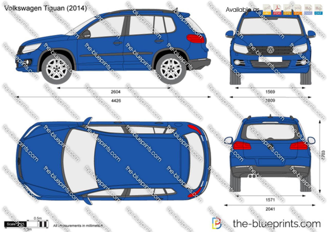 Volkswagen Tiguan Vector Drawing