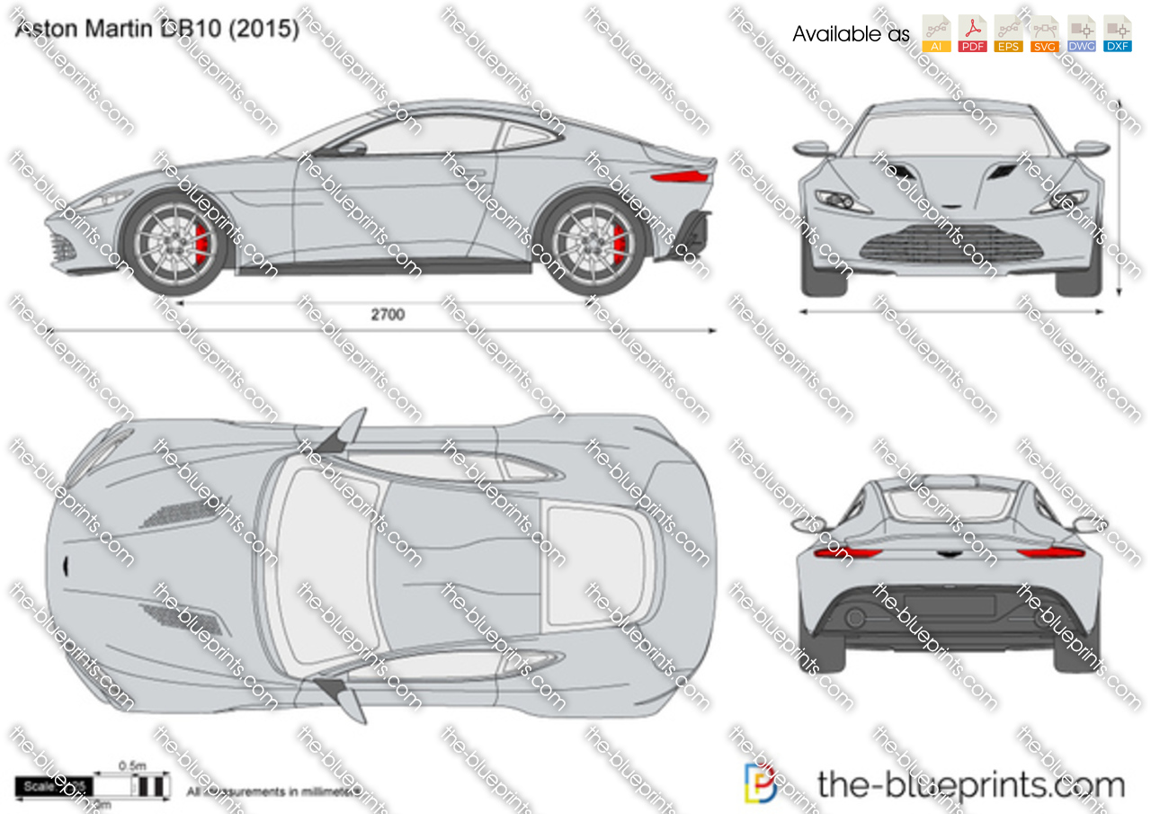 Aston Martin Db10 Vector Drawing
