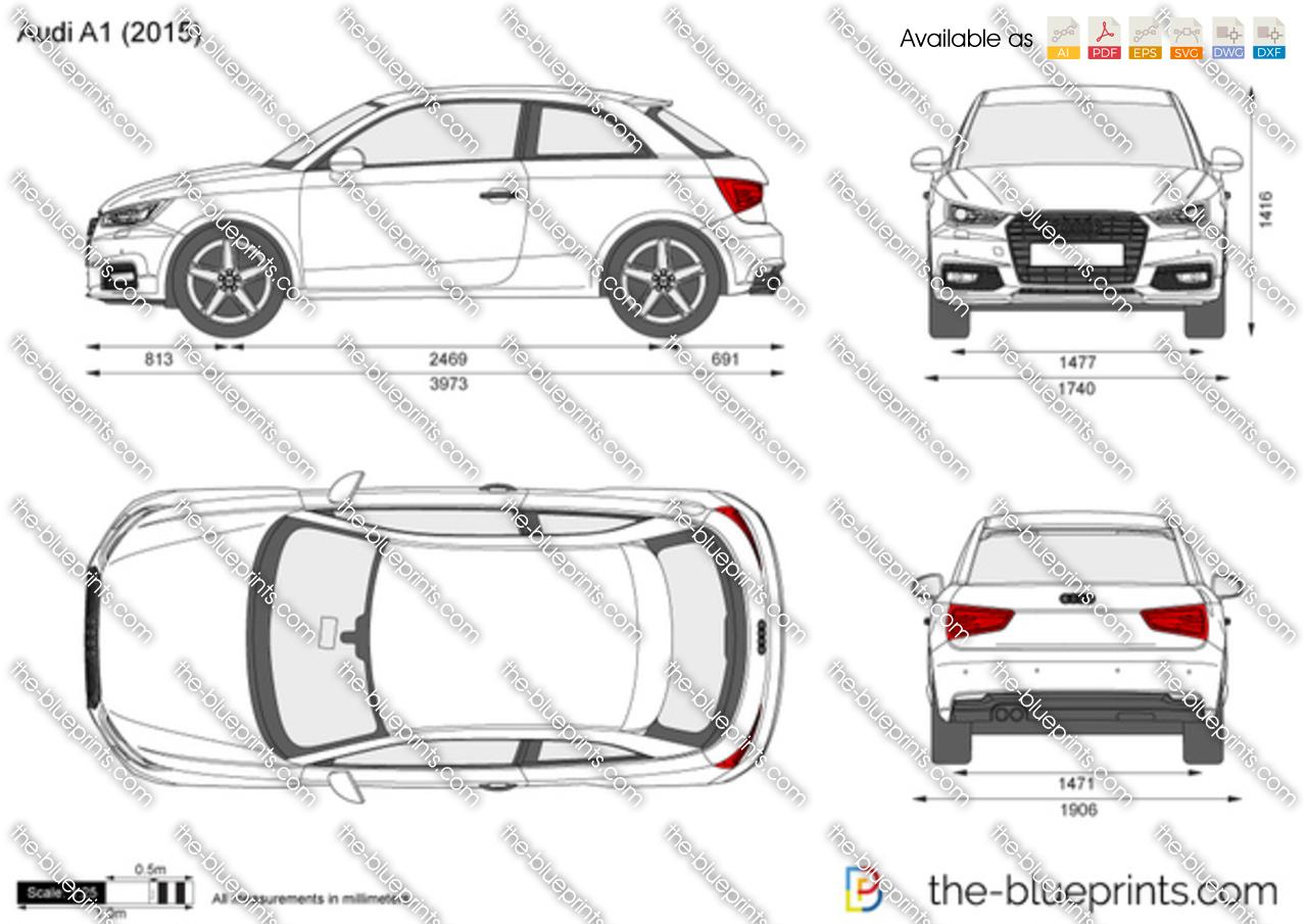 Audi A1 Vector Drawing