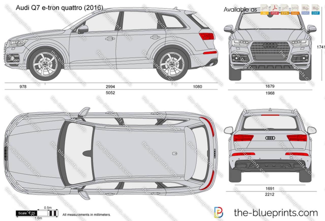 The Blueprints Com Vector Drawing Audi Q7 E Tron Quattro
