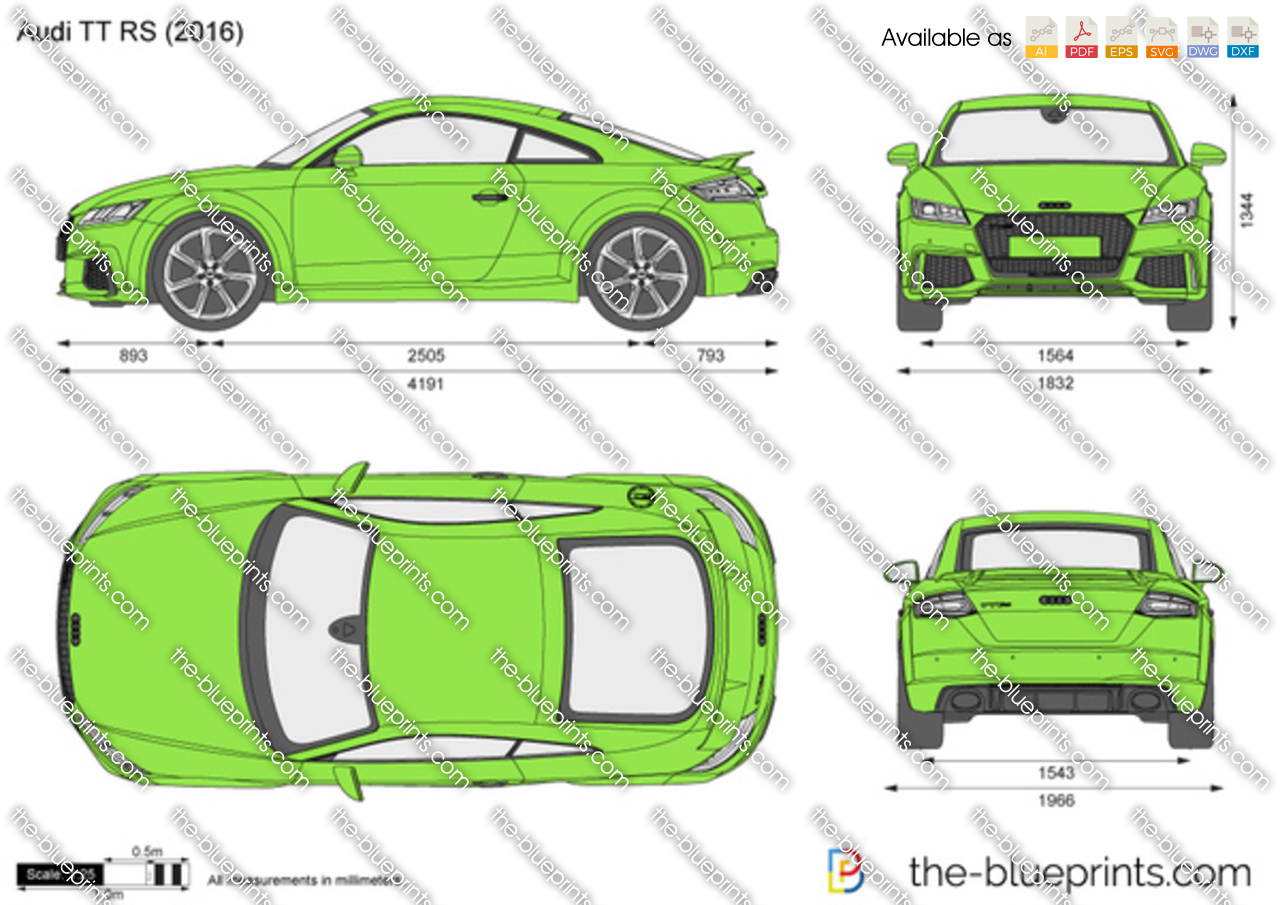 Audi Tt Rs Vector Drawing