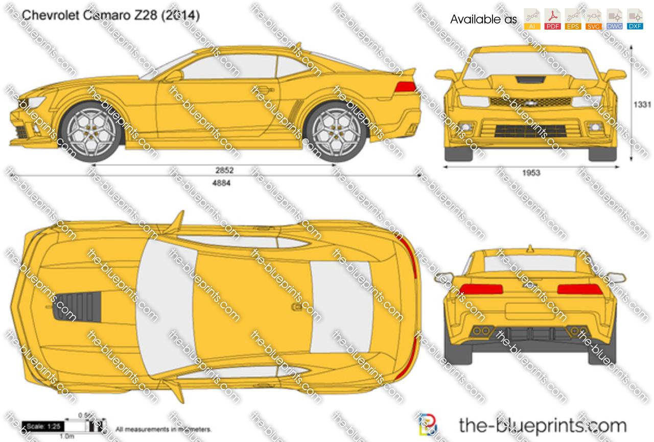 Chevrolet Camaro Z28 Vector Drawing