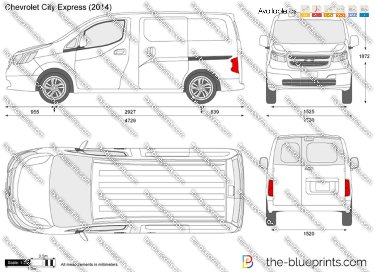 Chevrolet City Express Vector Drawing