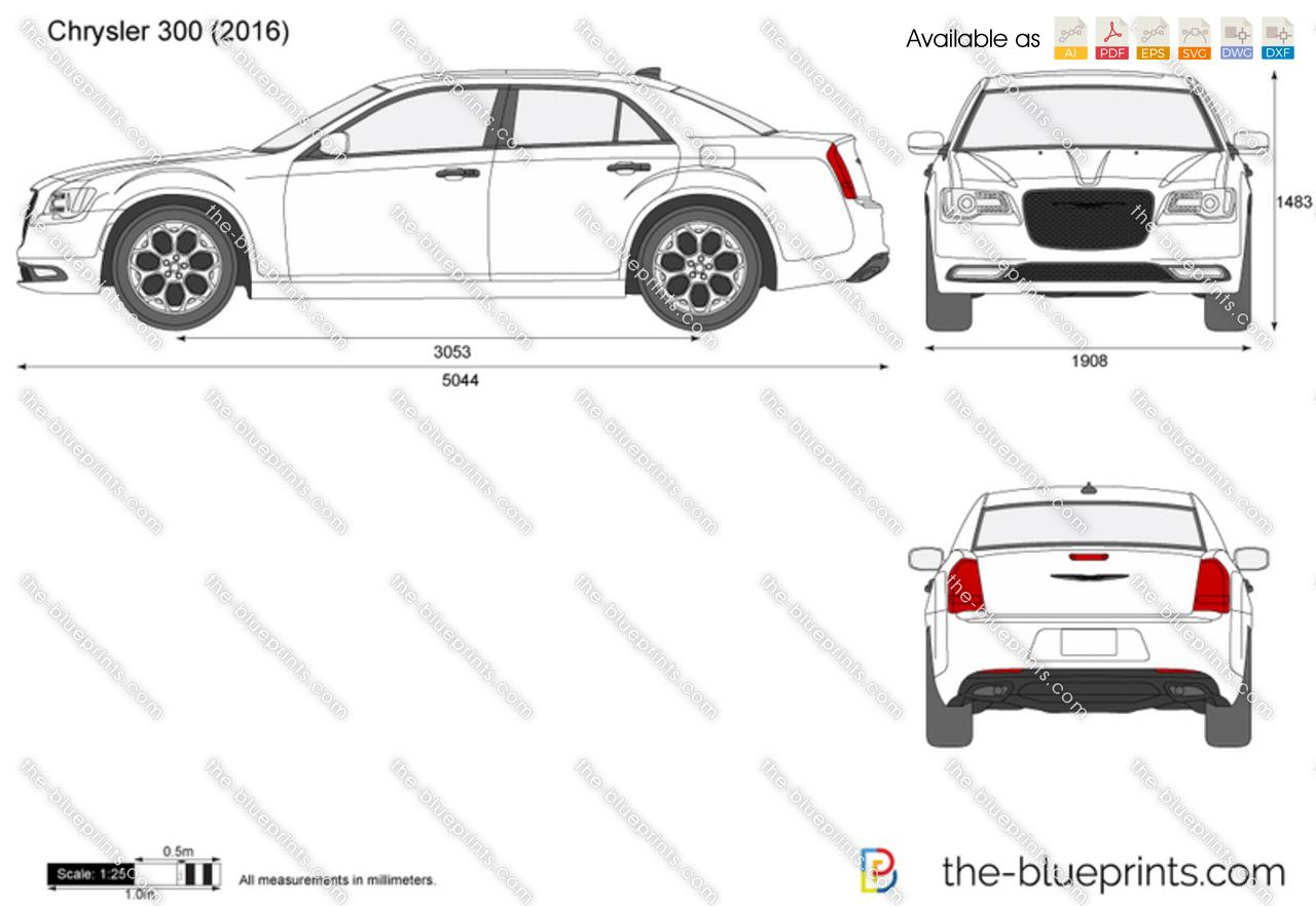 The blueprints vector drawing chrysler 300 chrysler 300 malvernweather Choice Image