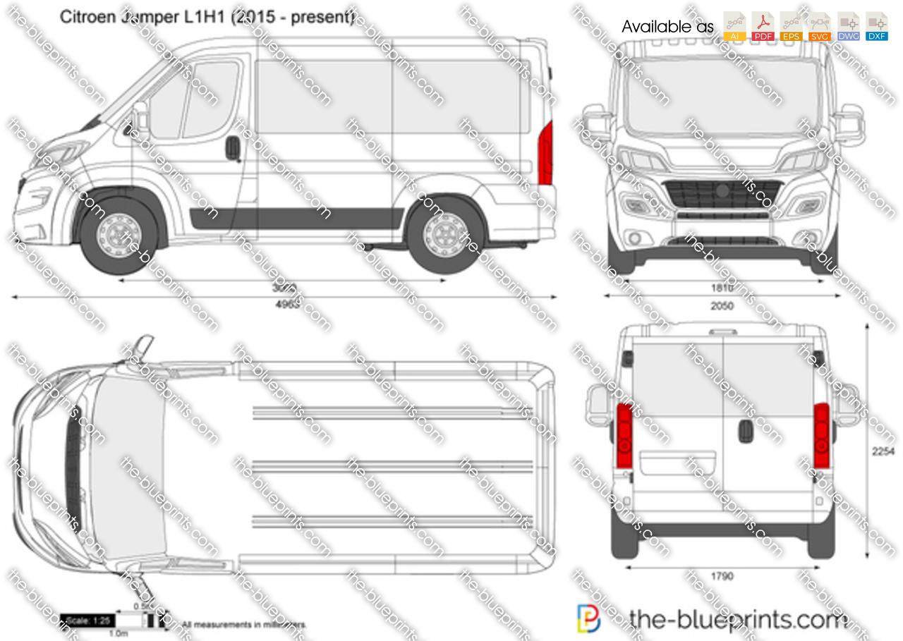 citroen jumper l1h1 vector drawing. Black Bedroom Furniture Sets. Home Design Ideas