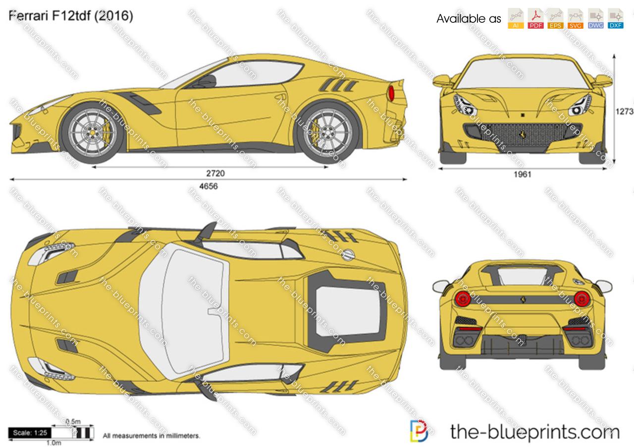 Ferrari F12 Tdf Price >> Ferrari F12tdf vector drawing