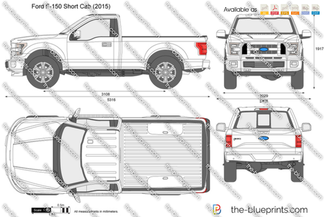 Ford F-150 Short Cab vector drawing