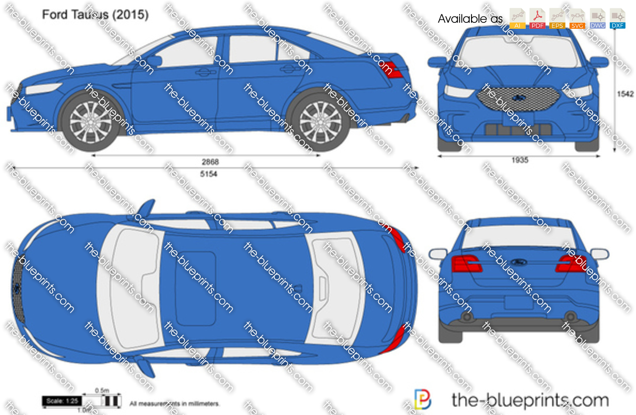 The Blueprints Com Vector Drawing Ford Taurus