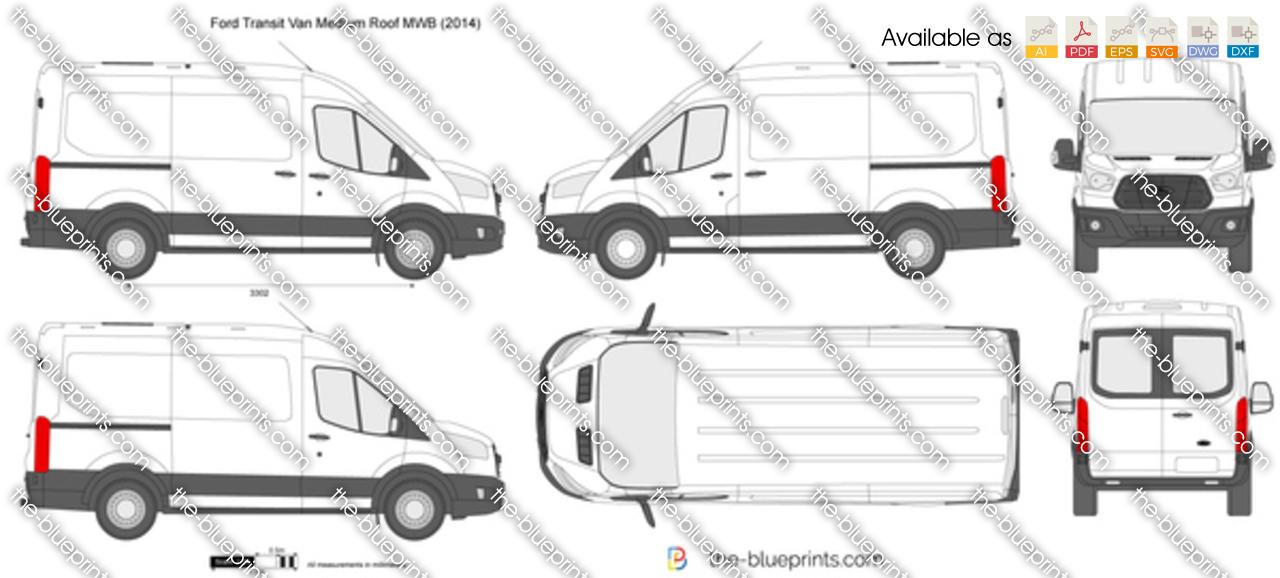 The Blueprints Com Vector Drawing Ford Transit Van