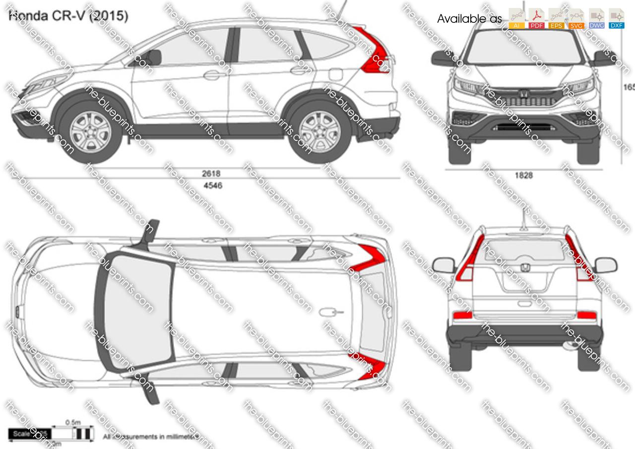 Honda CR-V vector drawing