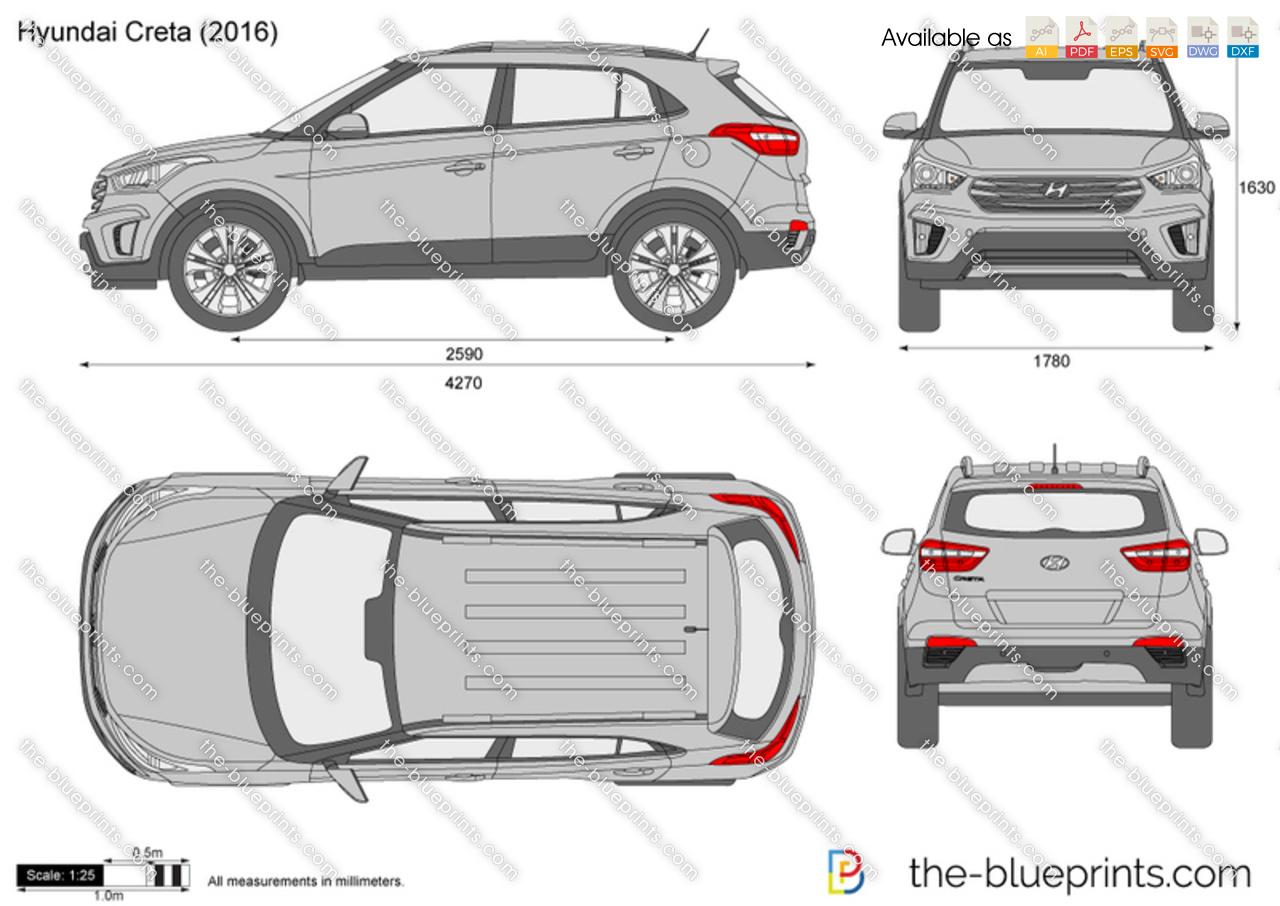Hyundai Creta vector drawing