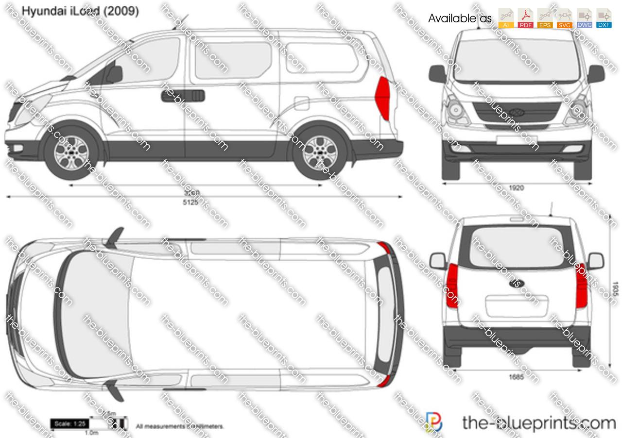 Hyundai Iload Vector Drawing