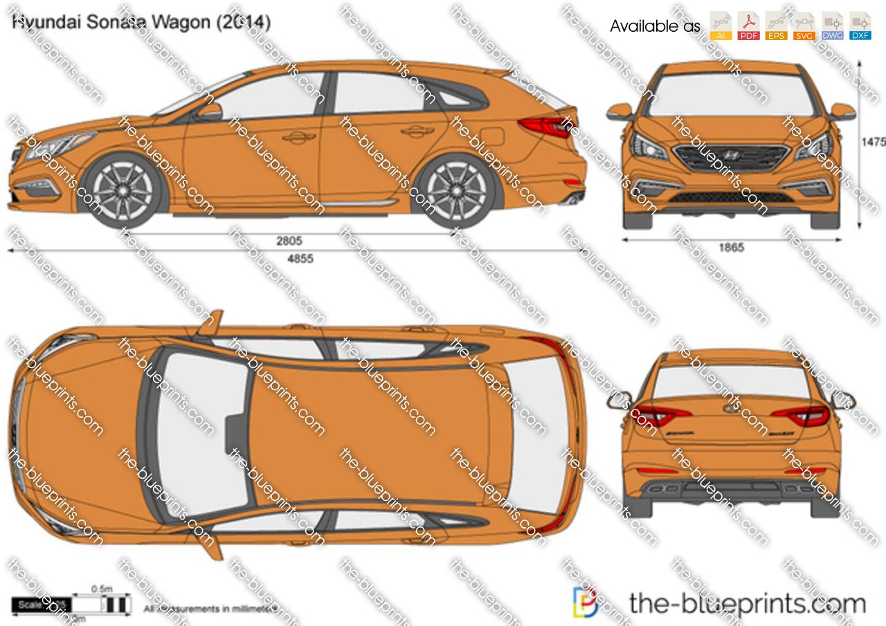 2014 Ford Escape For Sale >> Hyundai Sonata Wagon vector drawing