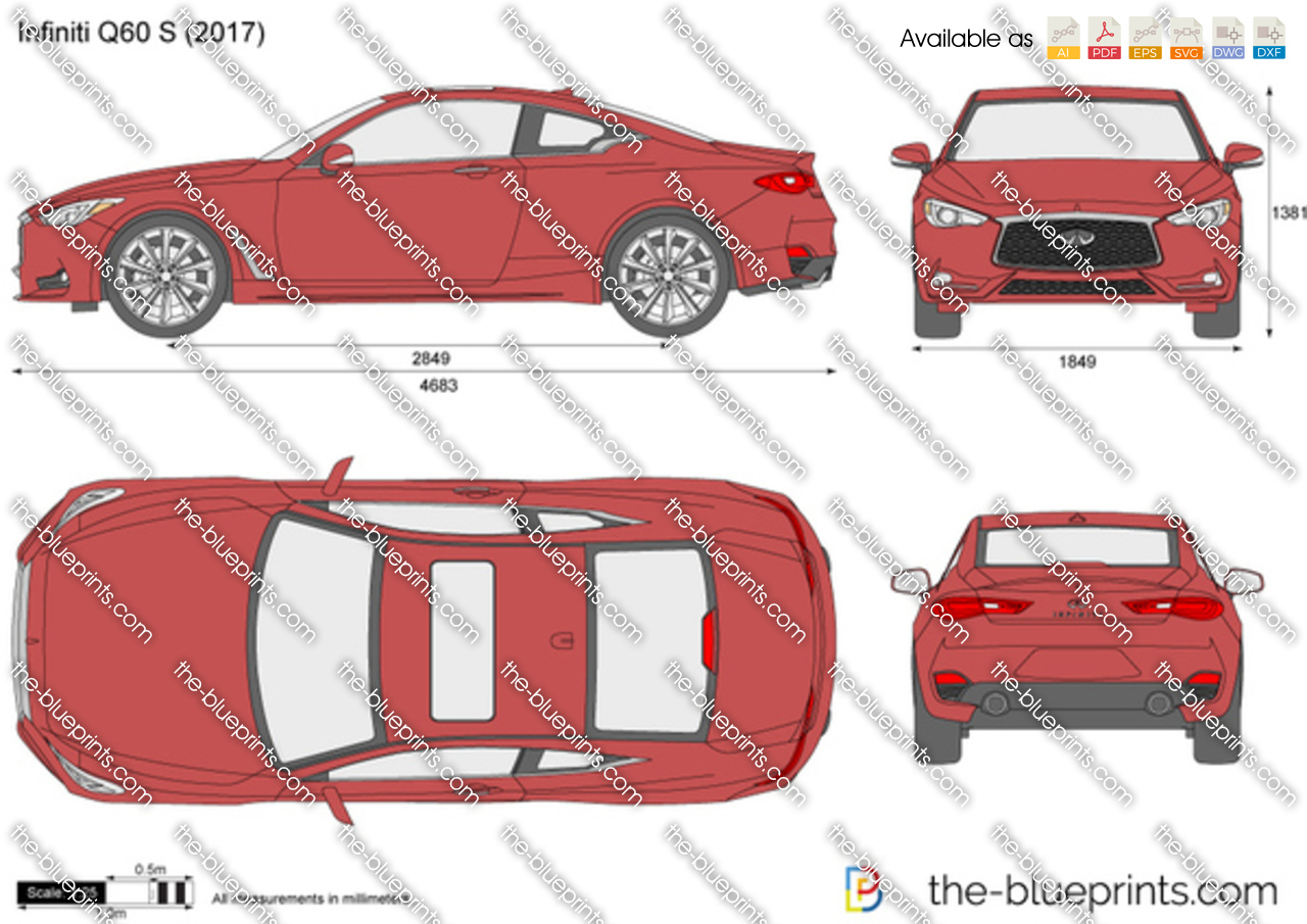 Infiniti Q60 S Vector Drawing