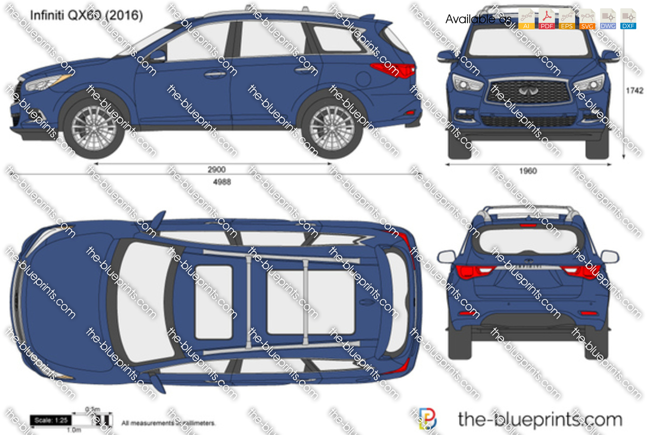 Qx60 For Sale >> Infiniti QX60 vector drawing