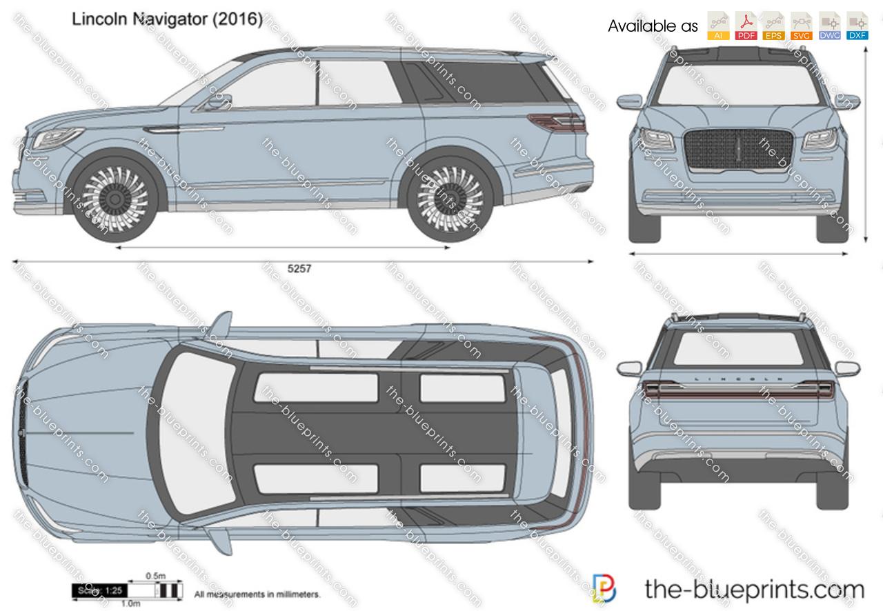 Lincoln Navigator vector drawing