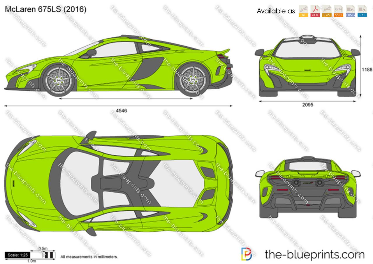 McLaren 675LS Vector Drawing