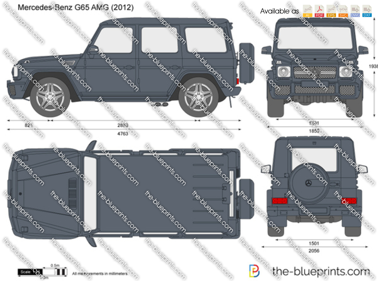 Mercedes Benz G65 Amg Vector Drawing