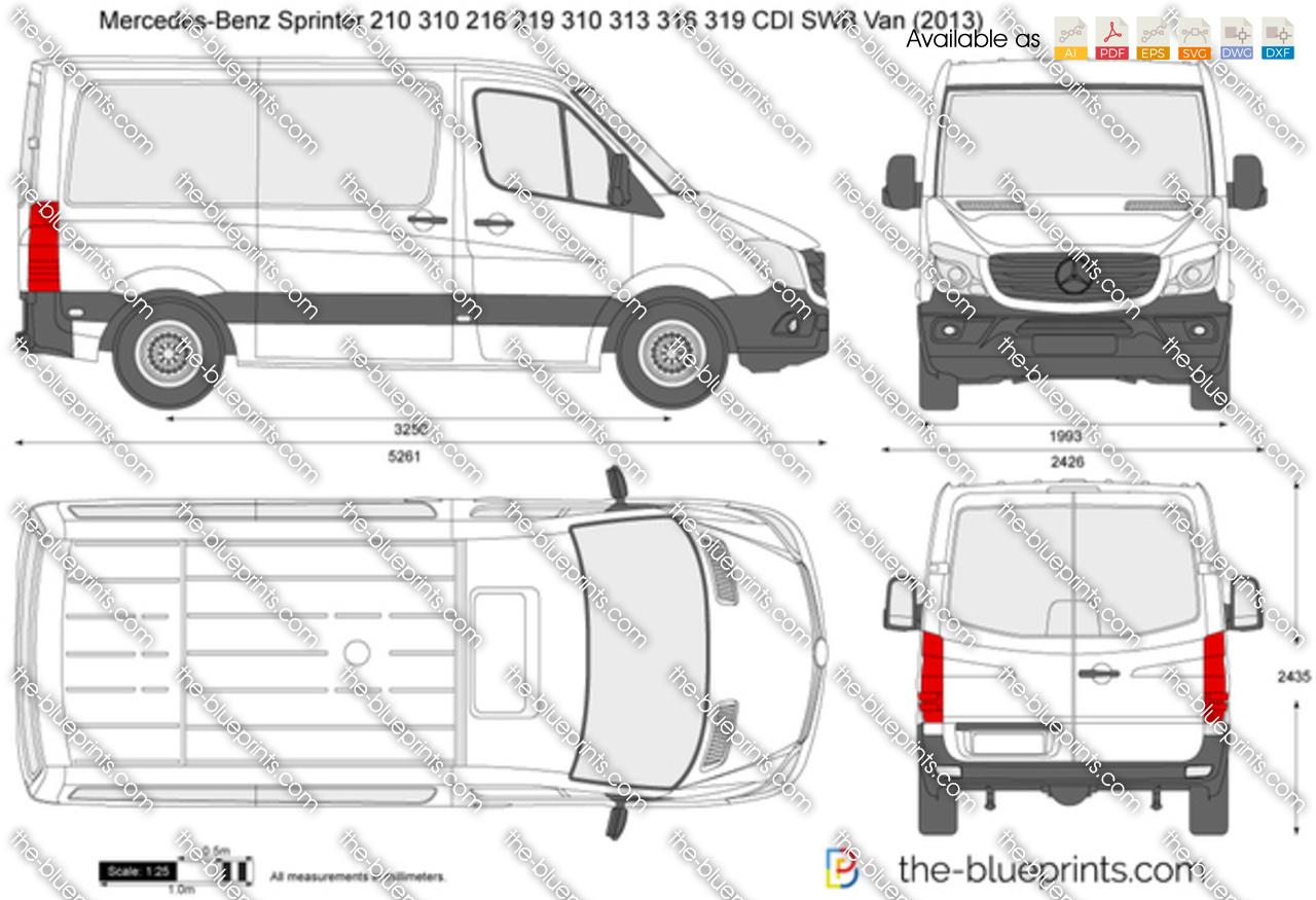 Mercedes Benz Sprinter 210 310 216 219 310 313 316 319 Cdi