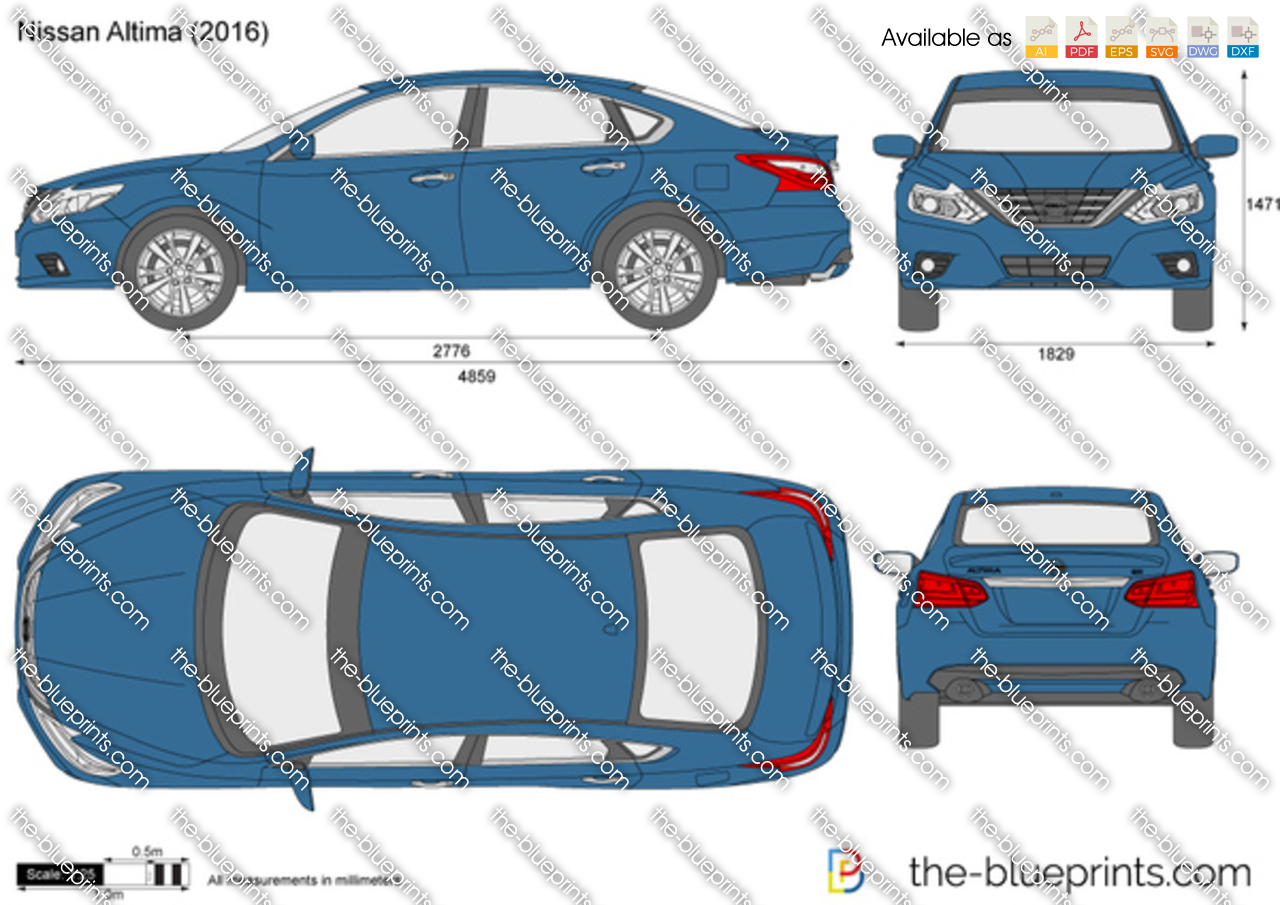 Nissan Altima vector drawing