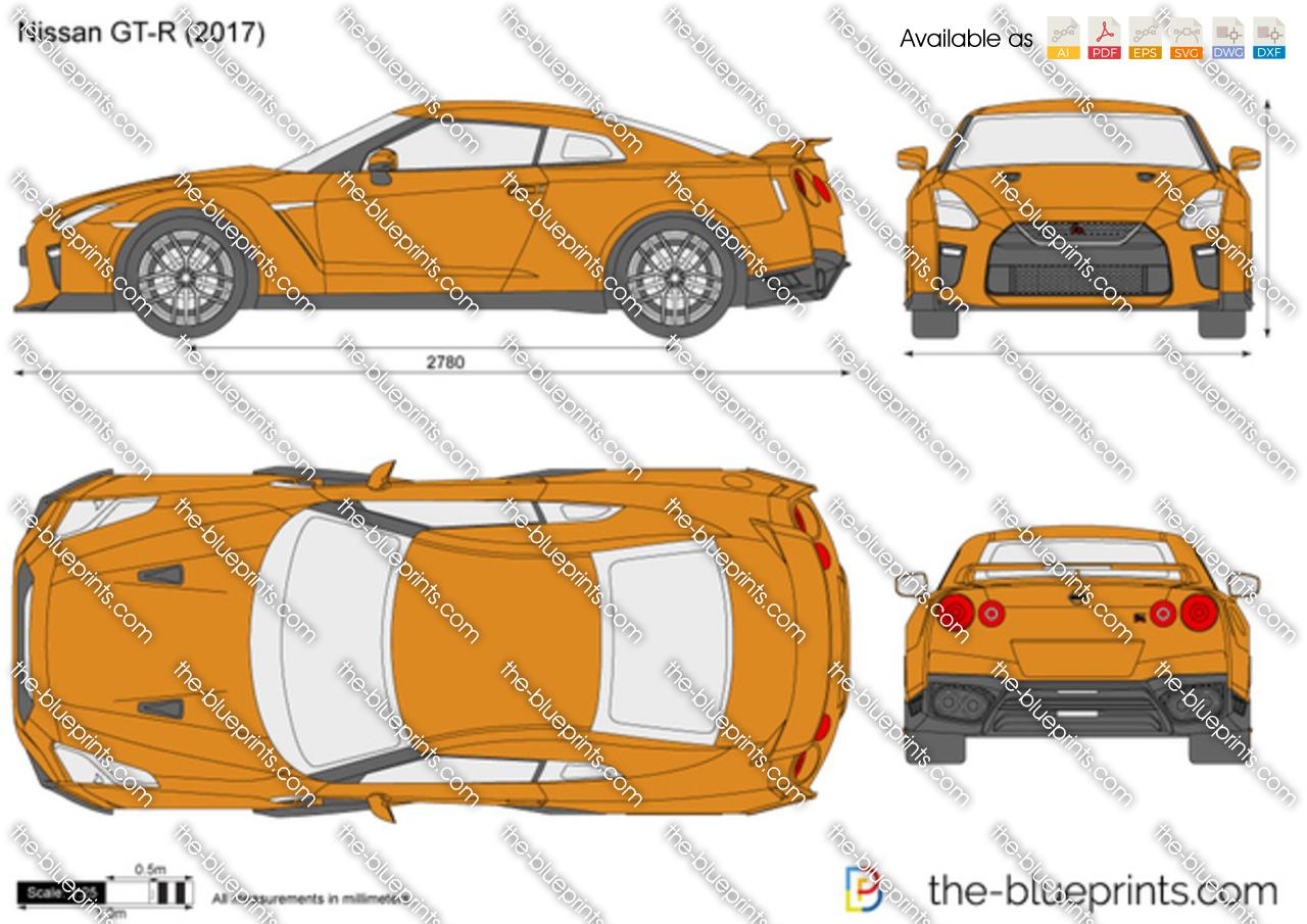 The-Blueprints.com - Vector Drawing - Nissan GT-R R35