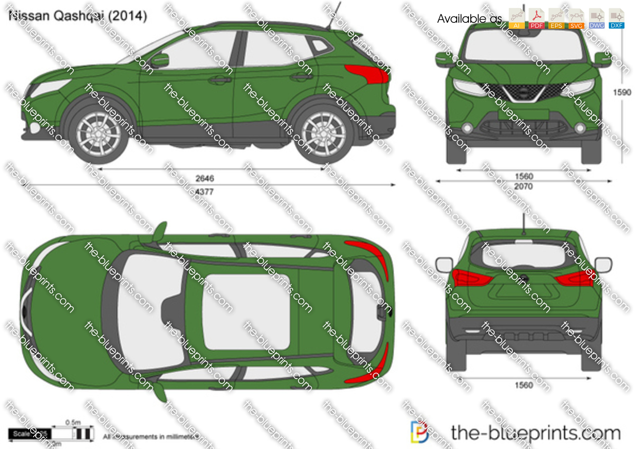 nissan qashqai vector drawing. Black Bedroom Furniture Sets. Home Design Ideas