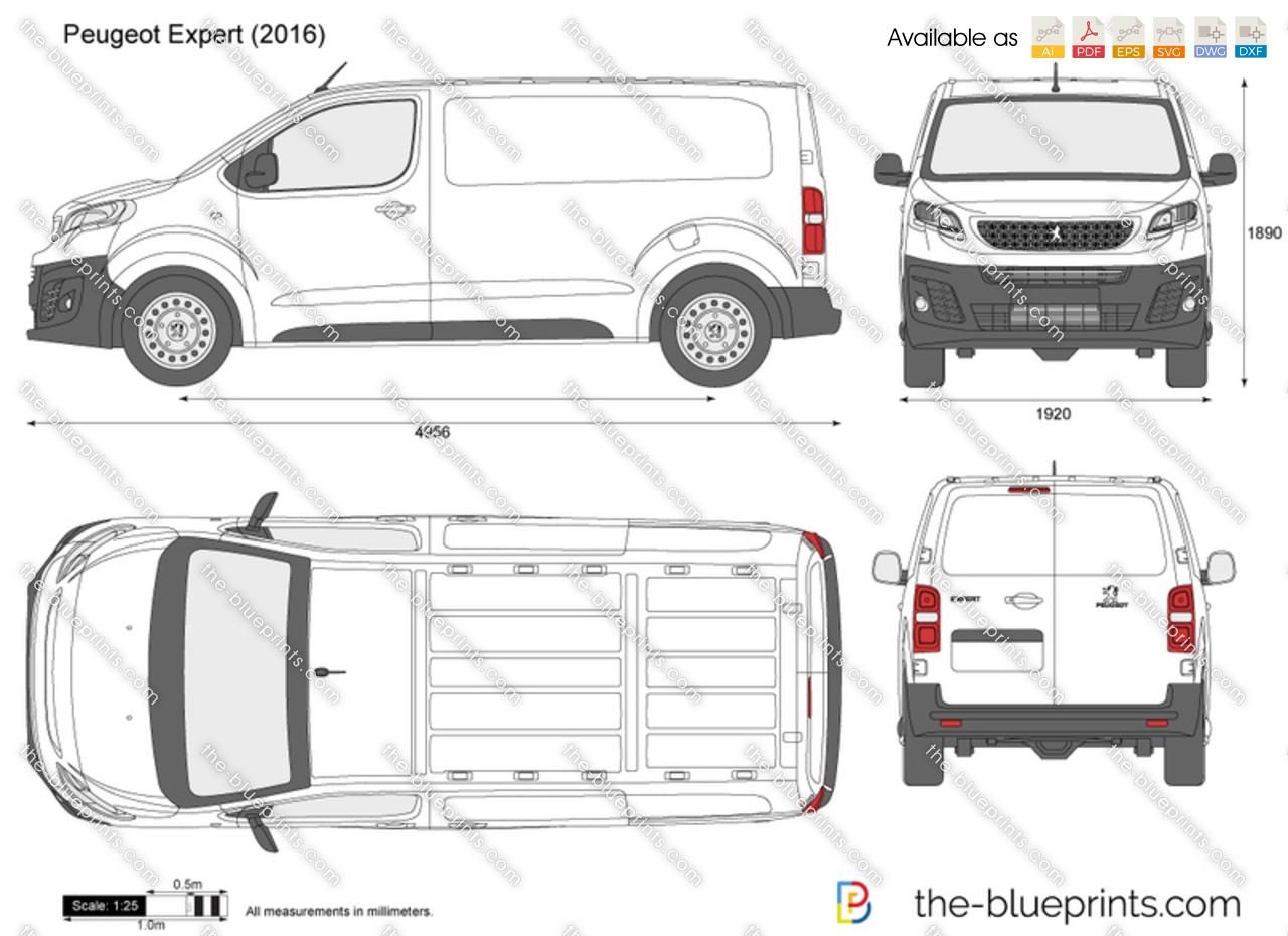 peugeot expert vector drawing. Black Bedroom Furniture Sets. Home Design Ideas