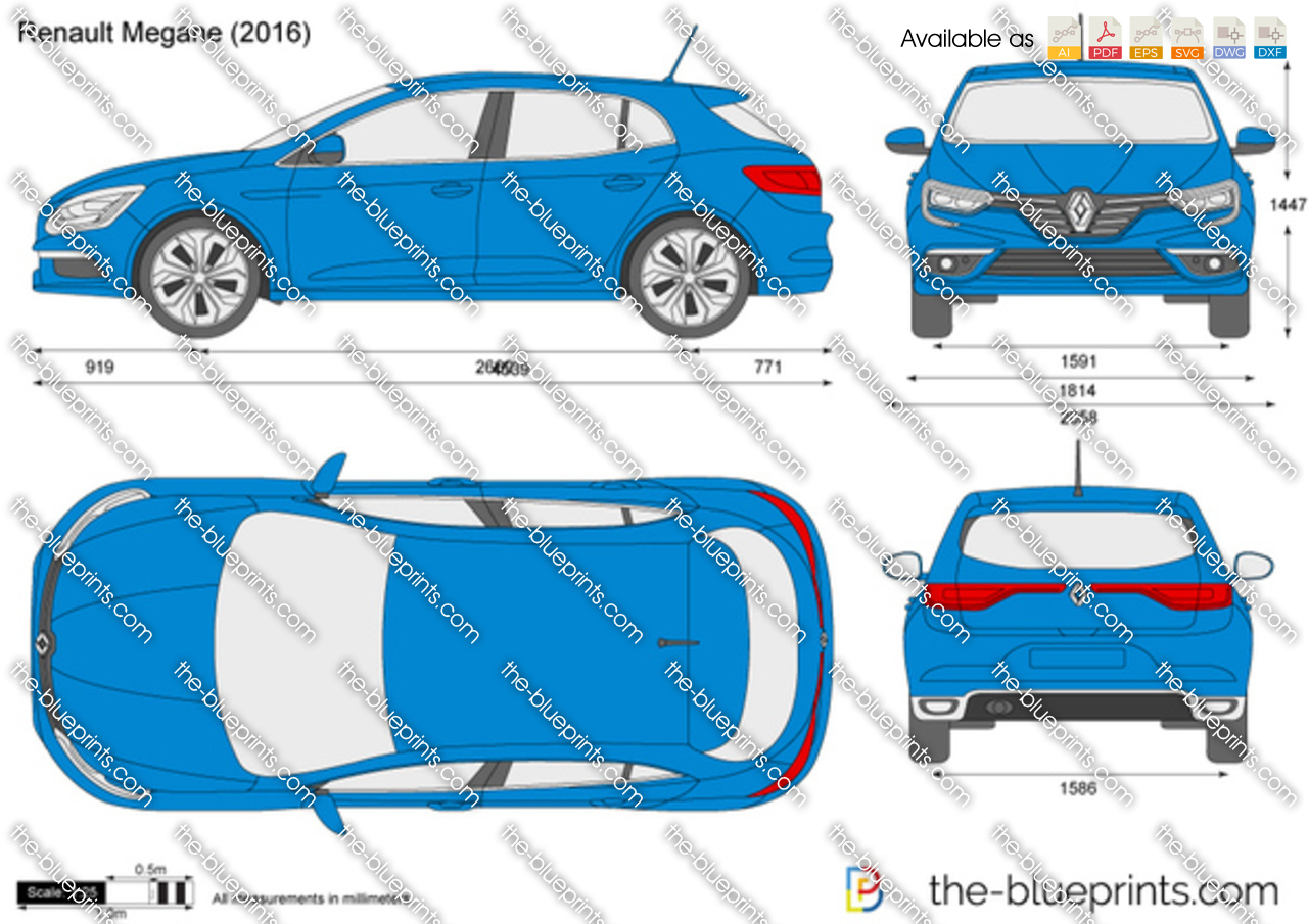 renault megane vector drawing